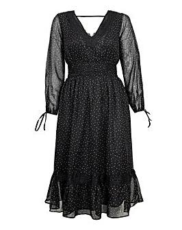 Koko Lace Micro Dot Midi Dress