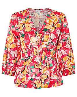 Monsoon Verna Print Linen Shirt