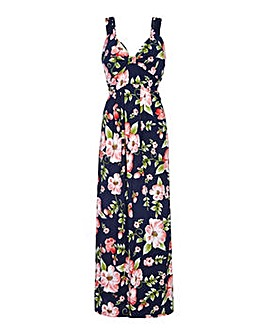 Mela London Curve Tropical Floral Maxi Dress