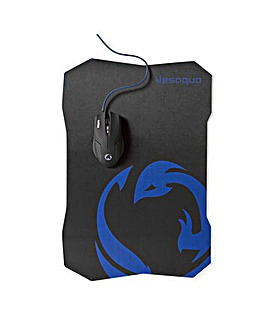 Nedis 6 button Gaming Mouse & Mouse Pad