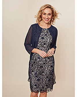 Gina Bacconi Lorca Lace Chiffon Dress