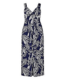 Mela London Curve Flower Sketch Maxi Dre