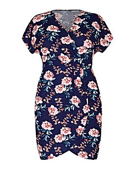Mela London Curve Floral Wrap Effect Dre