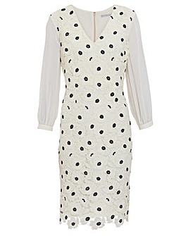 Gina Bacconi Rexelle Embroidery Dress