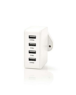 Nedis 4 x USB Wall Charger 4.8 A