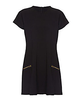 Mela London Curve Two Zip Shift Dress
