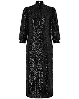 Monsoon Kalila Sequin Midi Dress