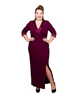 Scarlett & Jo Tuxedo Maxi Dress