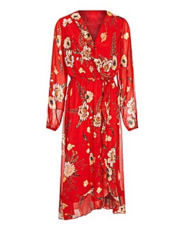 Mela London Curve Wrap Midi Dress