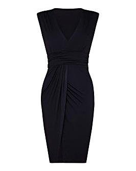 Mela London Curve V-Neck Wrap Dress