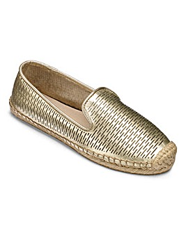 Lotus Leather Slip On Espadrilles Standard D Fit