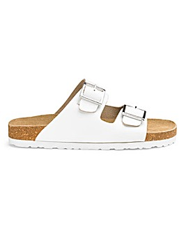 Leather Footbed Mule Sandals EEE Fit