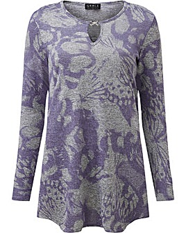 Grace tunic with keyhole detail