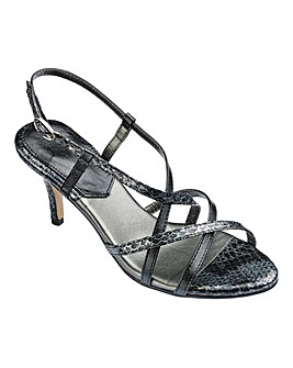 Heavenly Sole Flexible Occasion Shoes Wide E Fit