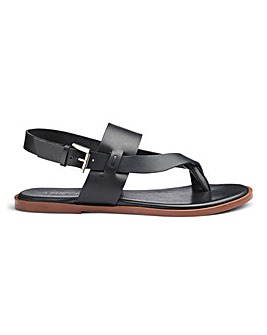 Leather Toe Post Sandals EEE Fit
