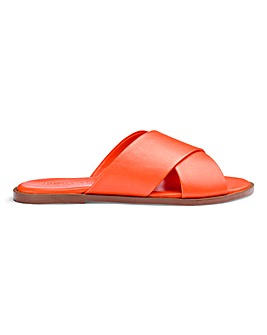 Leather Slider Sandals E Fit