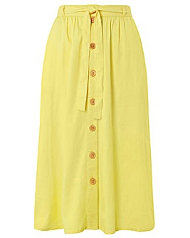 Monsoon Primrose Linen Skirt