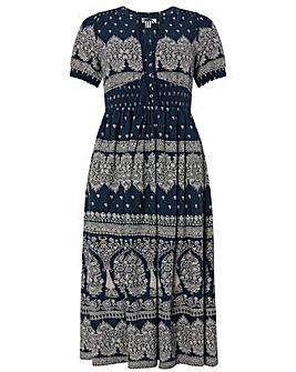 Monsoon Hatty Heritage Print Dress