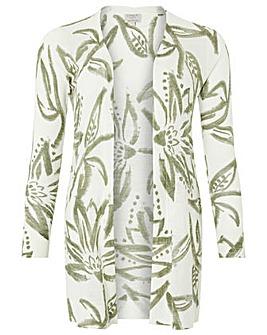 Monsoon Marky Print Linen Blend Cardigan