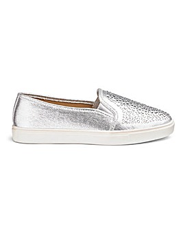 Diamante Detail Leisure Shoes E Fit