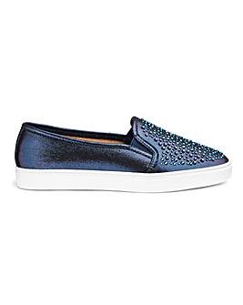 Diamante Detail Leisure Shoes E Fit