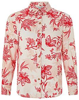 Monsoon Alyssa Print Linen Shirt