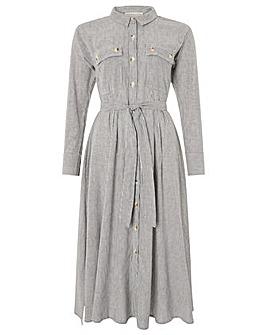 Monsoon Bronte Stripe Belted Midi Dress