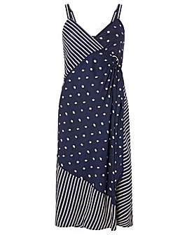 Monsoon Eliza Dot Wrap Print Dress