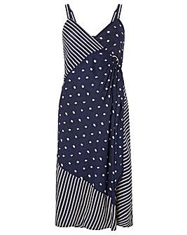 Monsoon Eliza Dot Wrap Print Dress