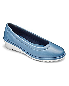 Heavenly Soles Leather Slip On Shoes Extra Wide EEE Fit