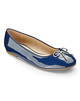 Heavenly Soles Bow Ballerinas Wide E Fit