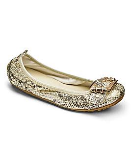 Heavenly Soles Elasticated Topline Flexible Shoes Wide E Fit