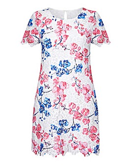 Yumi Curves Floral Lace Tunic Dress