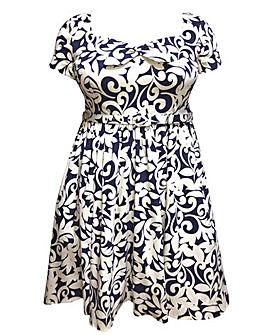 emily Sarah Bow Front Floaty Dress