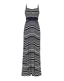 Yumi Curves Stripe Maxi Dress