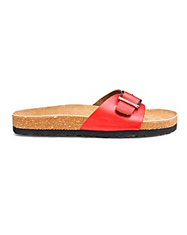 Leather Footbed Mule Sandals E Fit