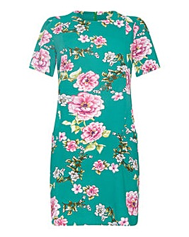 Yumi Curves Oriental Blossom Tunic Dress