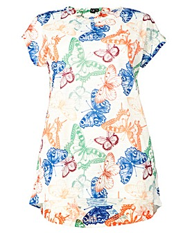 Izabel London Curve Butterfly T-Shirt