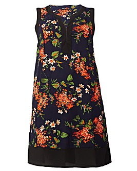 Izabel London Curve Floral Shift Dress