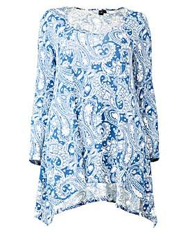 Izabel London Curve Floral Print Tunic