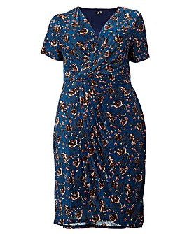 Izabel London Curve Floral Wrap Dress