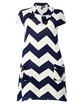 Izabel London Curve Printed Runic Dress