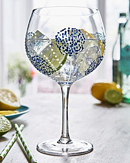 Painted Copa Glass