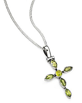 Peridot Cross Pendant