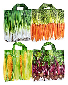 Vegetable Shopping Bags Set of 4