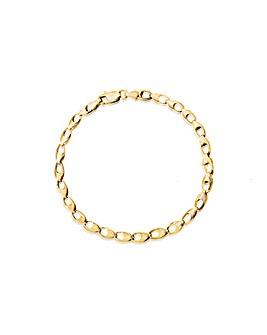 9Ct Gold Oval Hollow Link Bracelet