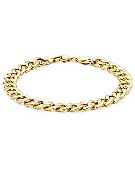 9 Carat Gold Hollow Oval Curb Bracelet
