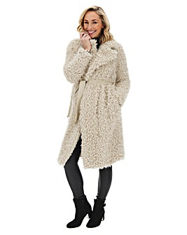 Vero Moda Long Faux Fur Teddy Coat