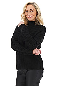 Vero Moda Funnelneck Lace Up Jumper