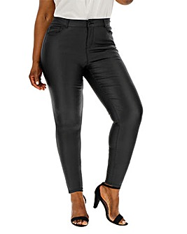 Vero Moda Leather Look Coated Jeans